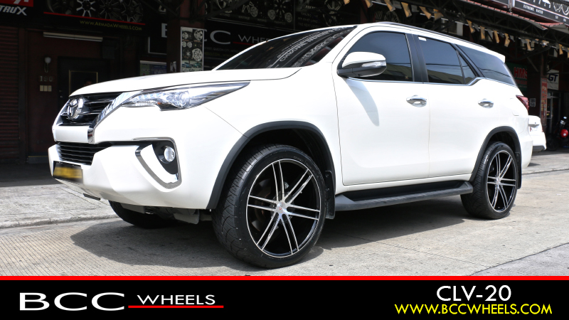 toyota fortuner with 22 x 9 5 inch | cavallo wheels | clv-20 | gloss black  machined | nitto tires | n420s