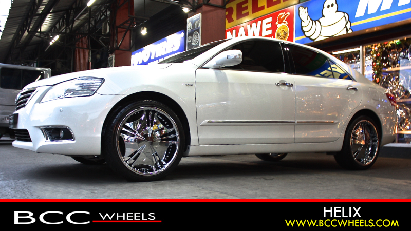 Toyota Camry With 20 Inch Verde Custom Wheels V78 Helix Chrome