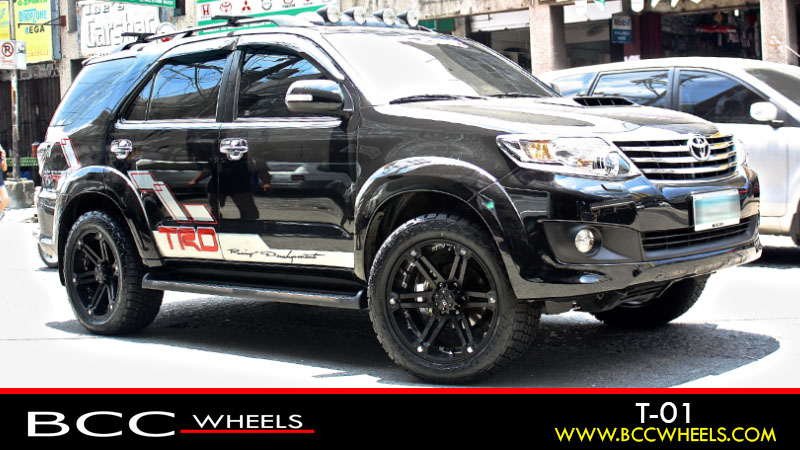 toyota fortuner with 20 inch tuff a t t01   matte black