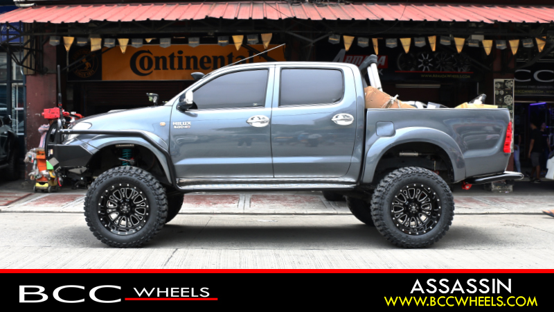 Toyota Hilux With 20x12 Inch Rolling Rbp In Gloss Black Milled Cooper Discoverer Stt Pro 35 X 12 50 R 20